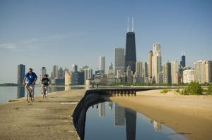 Biking Chicago Skyline