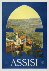 Vintage poster of Assisi Arts Study Abroad