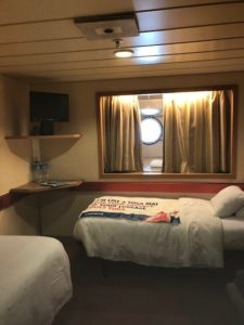 Porthole Room on the Fantasy. Cruise Tips for Introverts