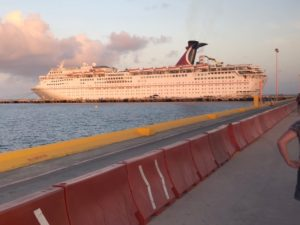 The Carnival Fantasy in port, Cruise Tips for Introverts